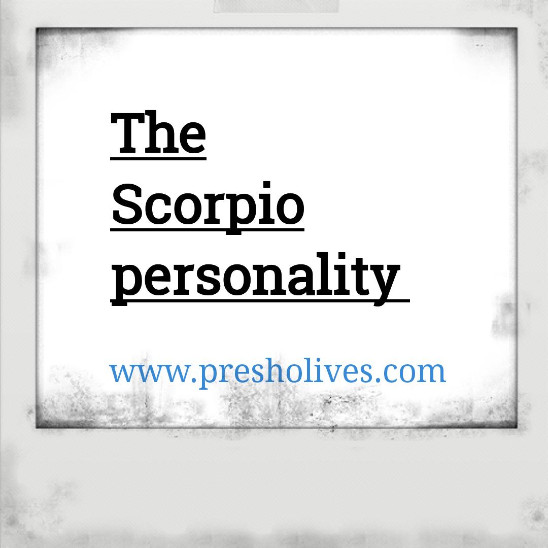 The Scorpio personality